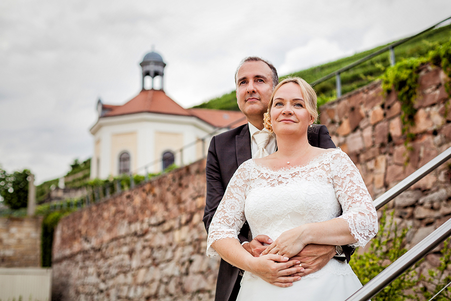 Brautpaarfoto Schloss Wackerbarth, Radebeul